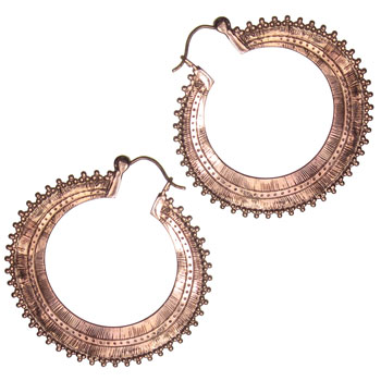 Rose Gold Afghan Hoops