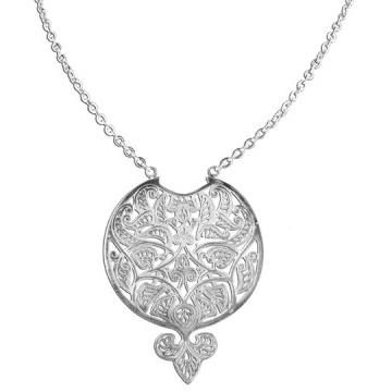Silver Plated Basque Necklace