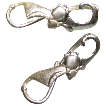 Silver Polished Bat Twist Weights