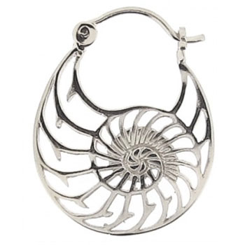 Silver Plated Nautilus Hoops
