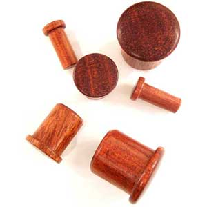 Bloodwood Single Flared Plugs