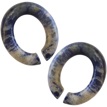 Sodalite Oval Hoops