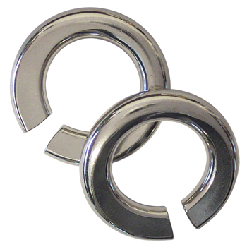 Surgical Steel Flattened Rings