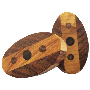 Olivewood and Granadillo Ovals