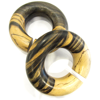 Tiger Ebony Large Diameter Hoops