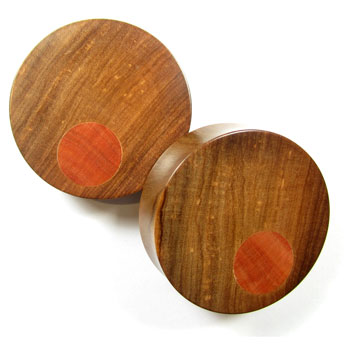 Wood Plugs with Offset Inlays