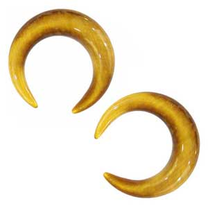 Yellow Tiger Eye Crescents